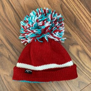 Puma Pom Pom hat beanie red
